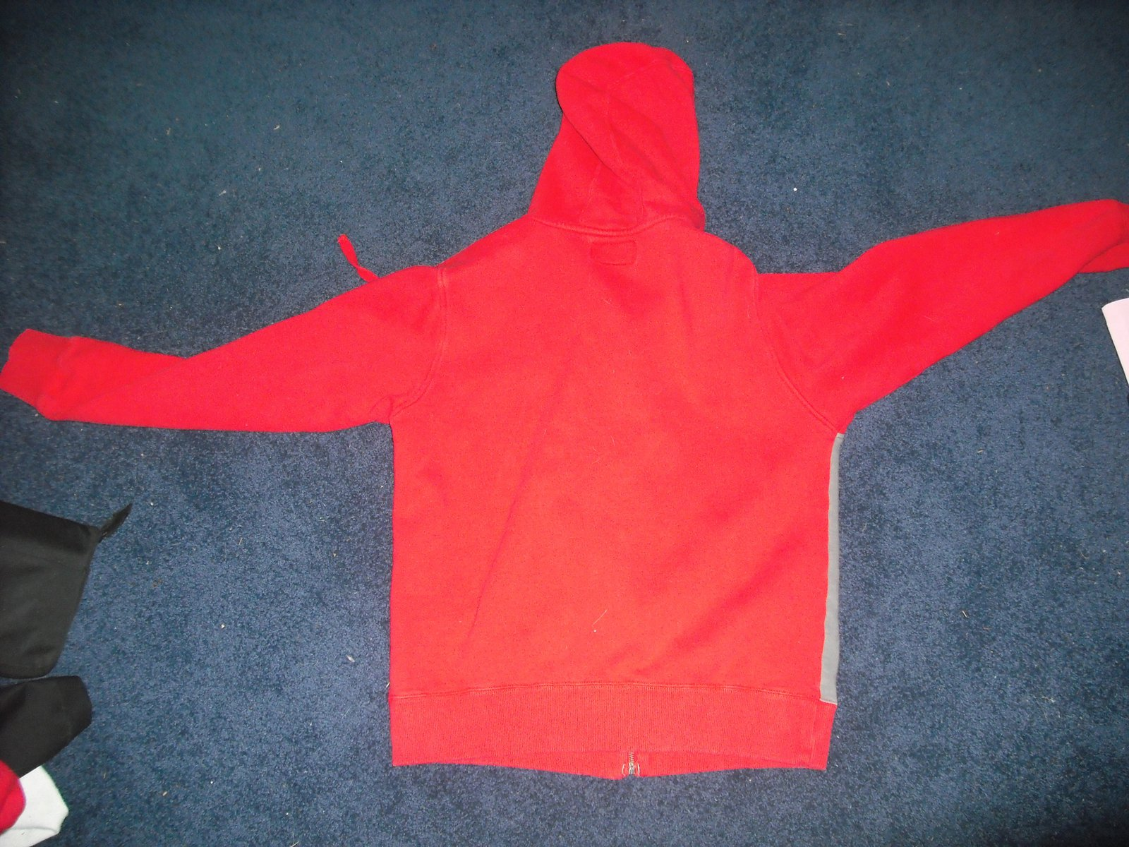 Back of red  vintage sweatshirt