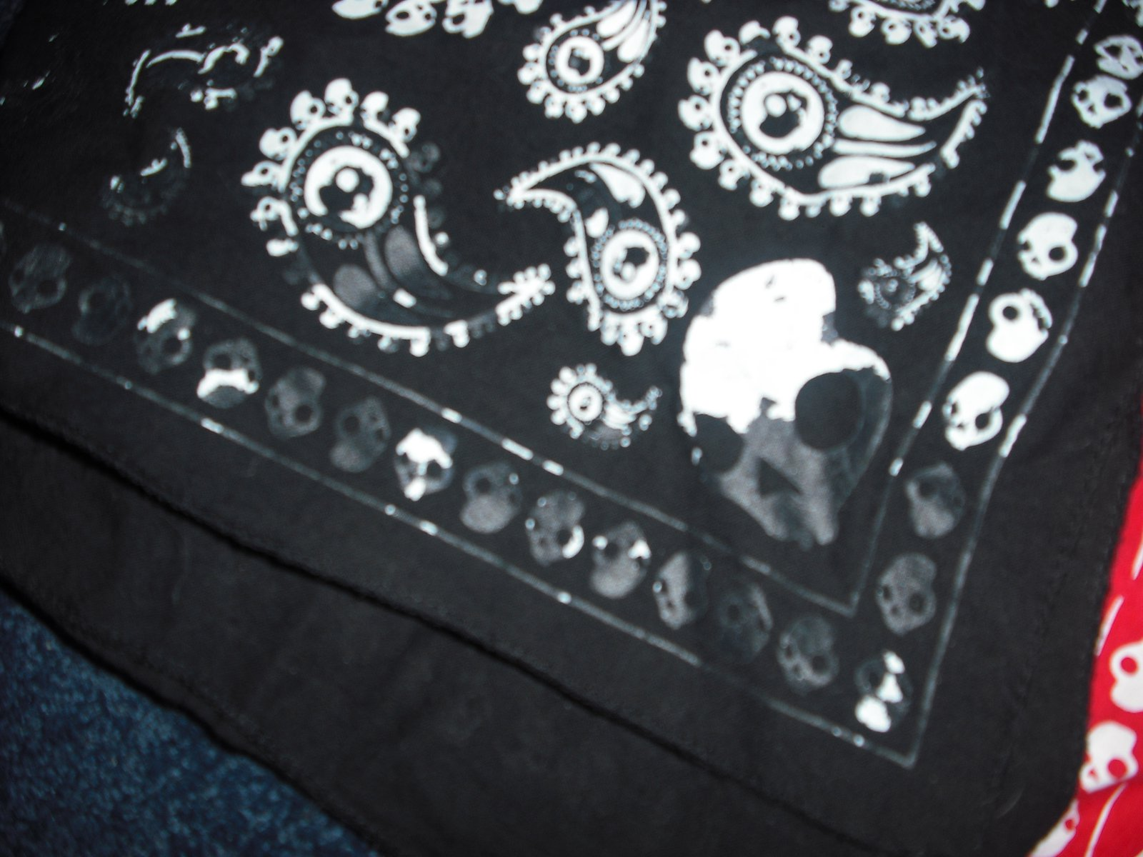 Black skullcandy bandana