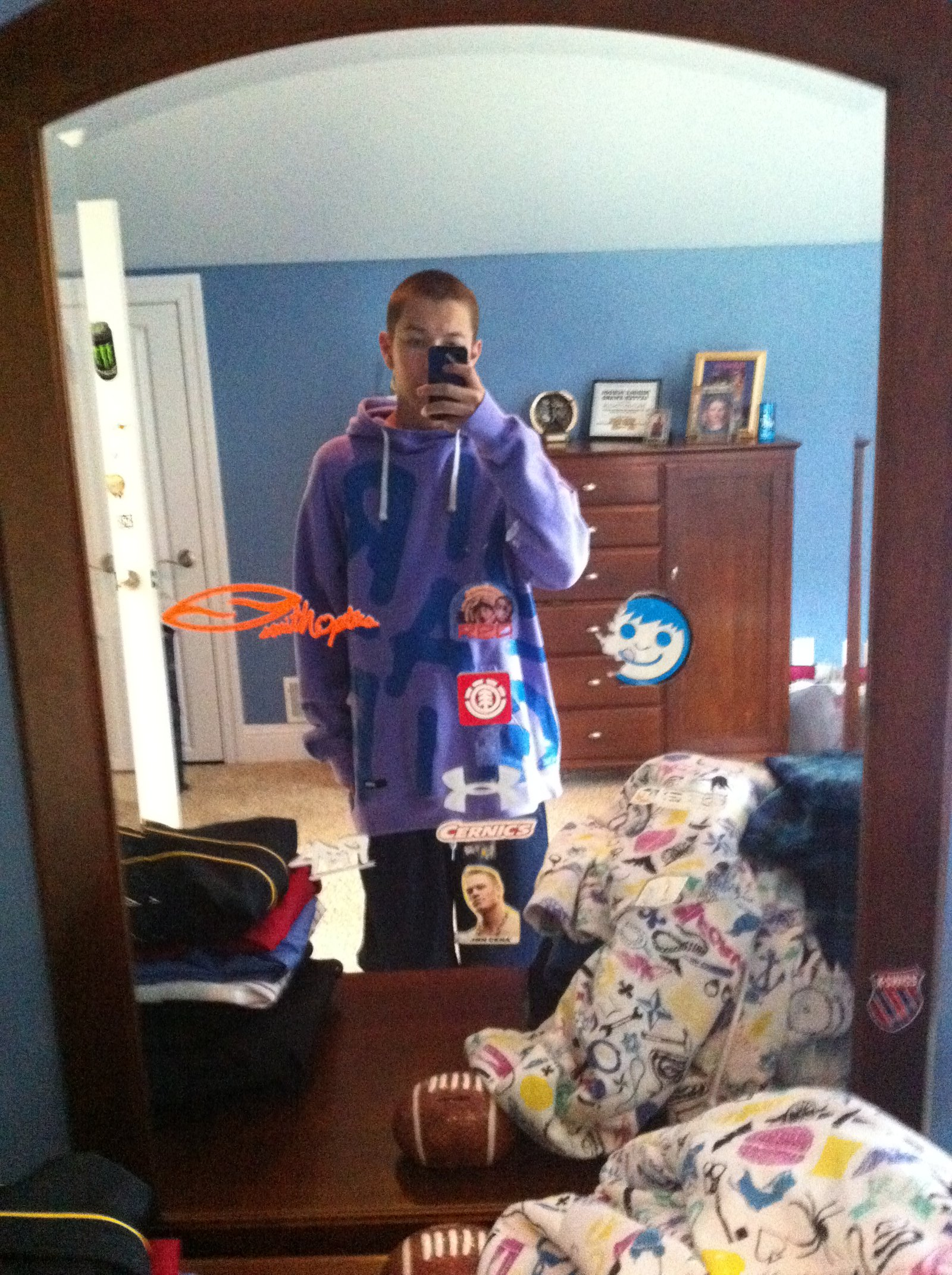 Large orage hoodie