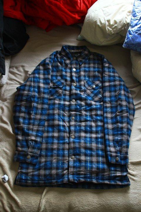 4xl blueberry flannel FS