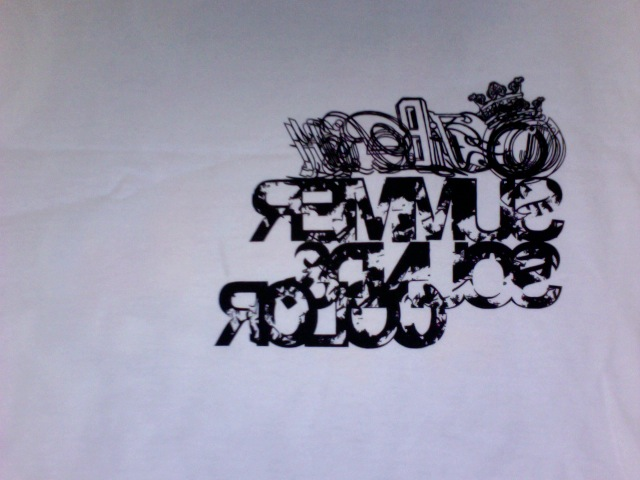 Unrealesd Jiberish shirt/package