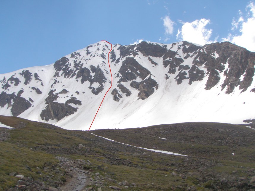 Torreys Peak: Dead Dog Couloir