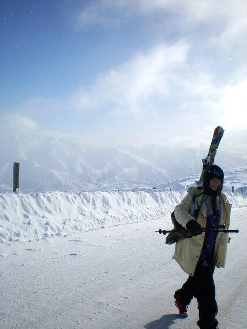 Walking up at Snowpark