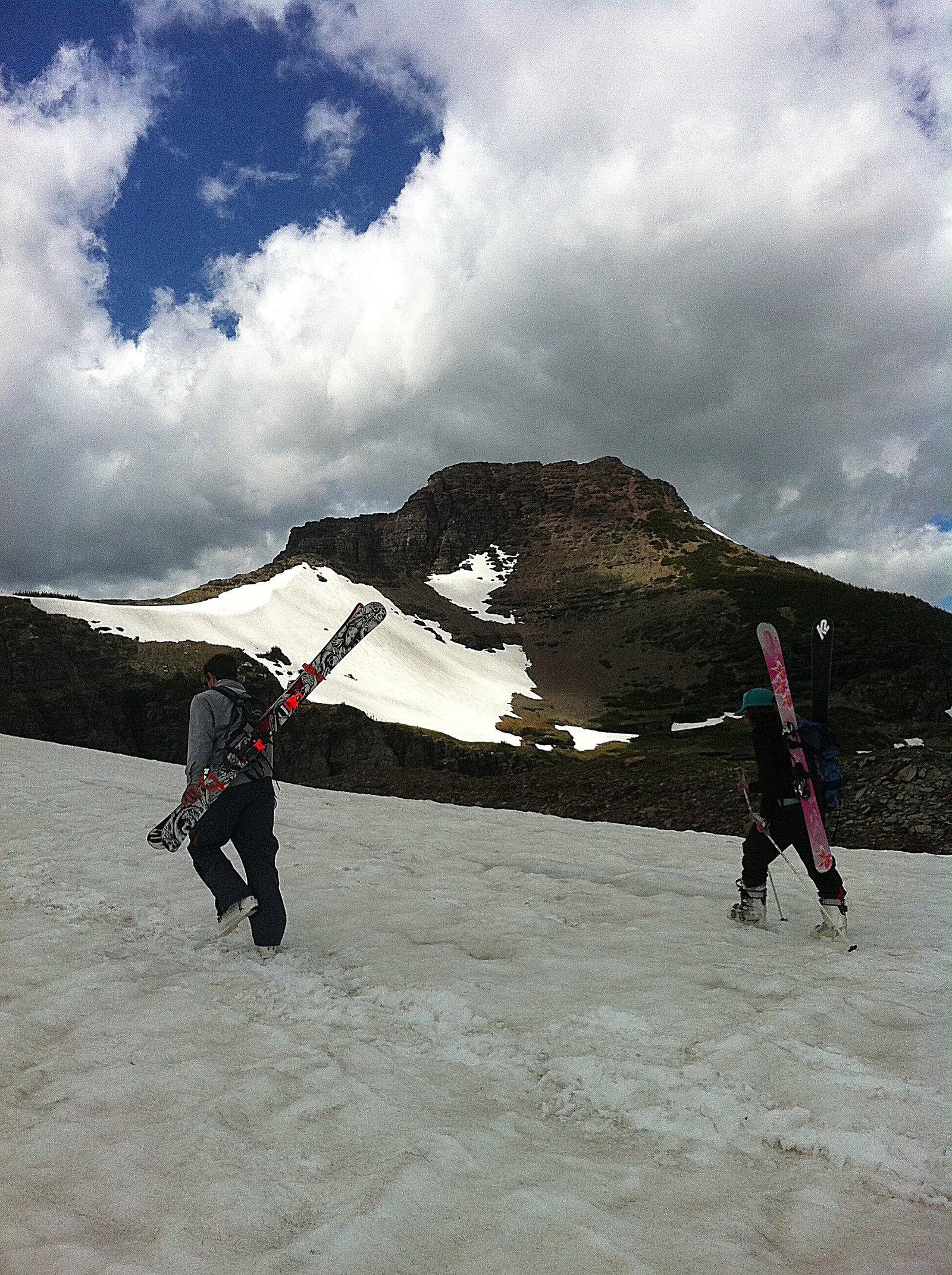 Hiking in glacier