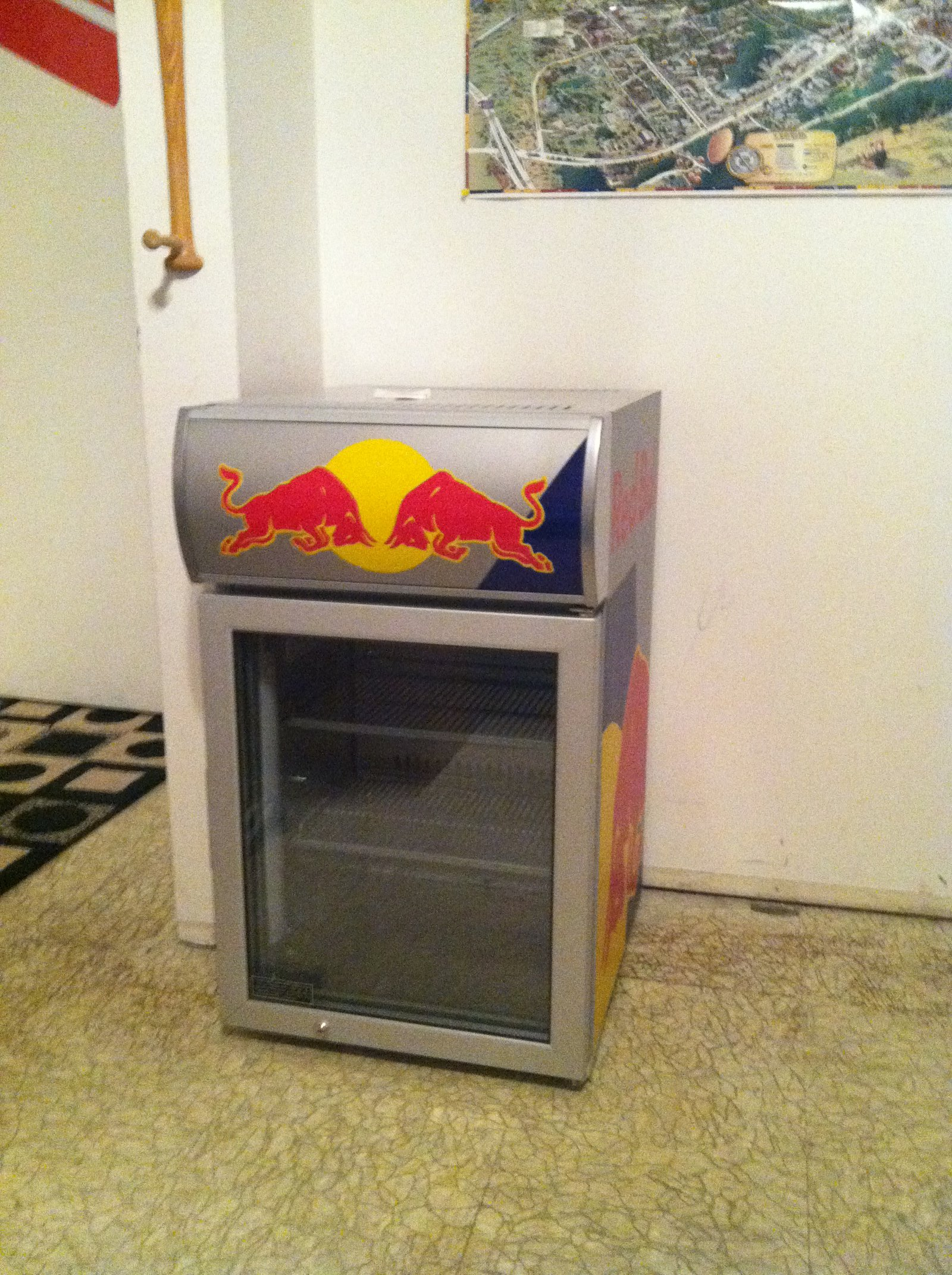 Reb bull fridge