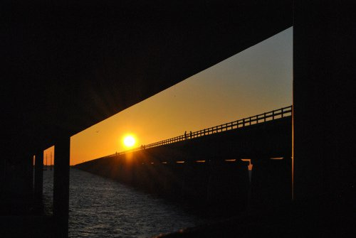Bridge and sunset.