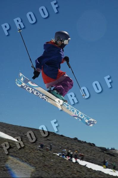 Summertime skiing