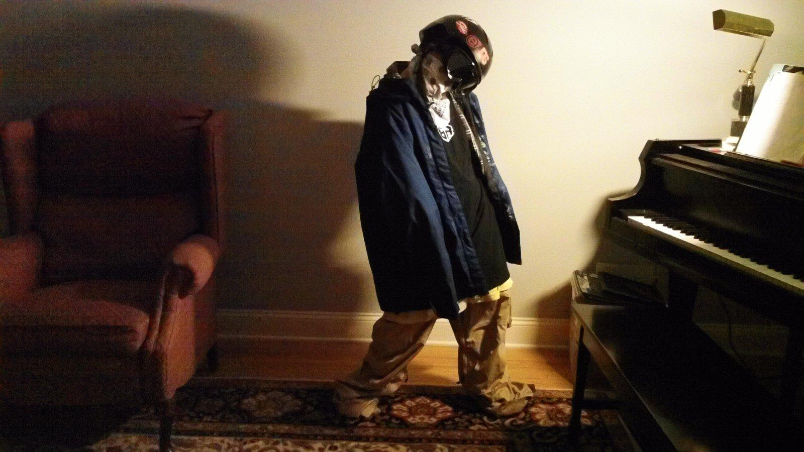 Bro wearing ski gear
