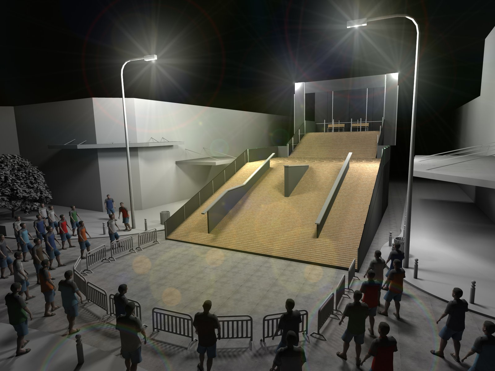 Octagon Rail Jam set-up