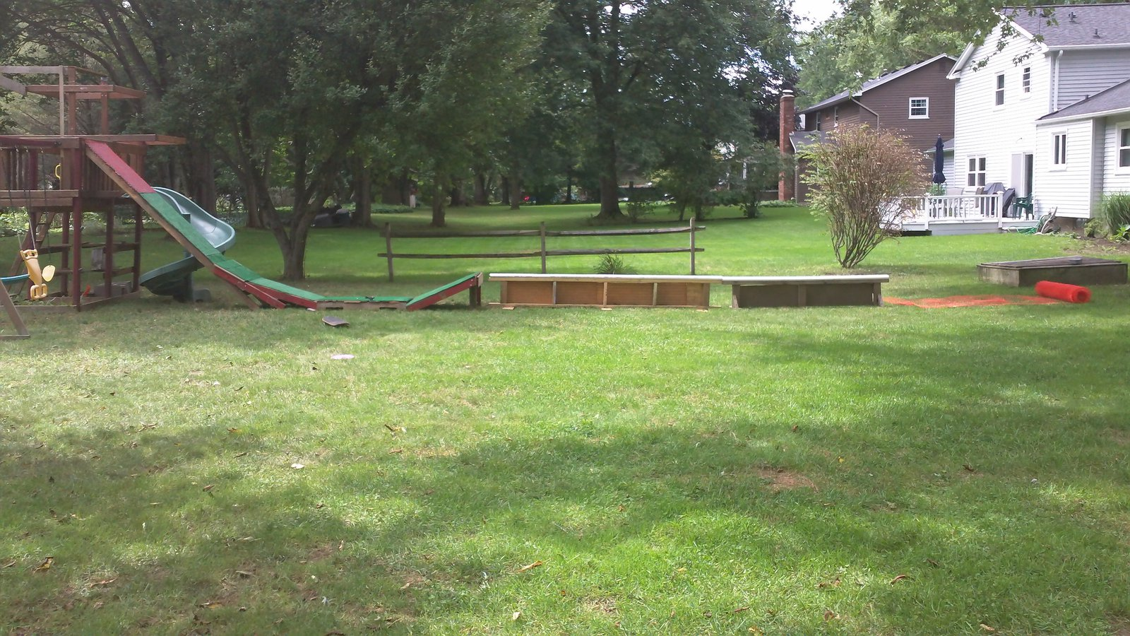 Summer setup side view