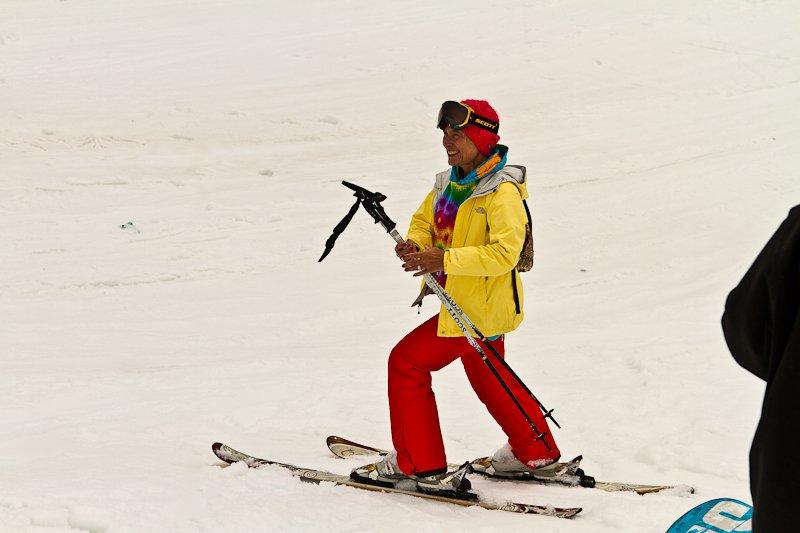 Stoked to ski
