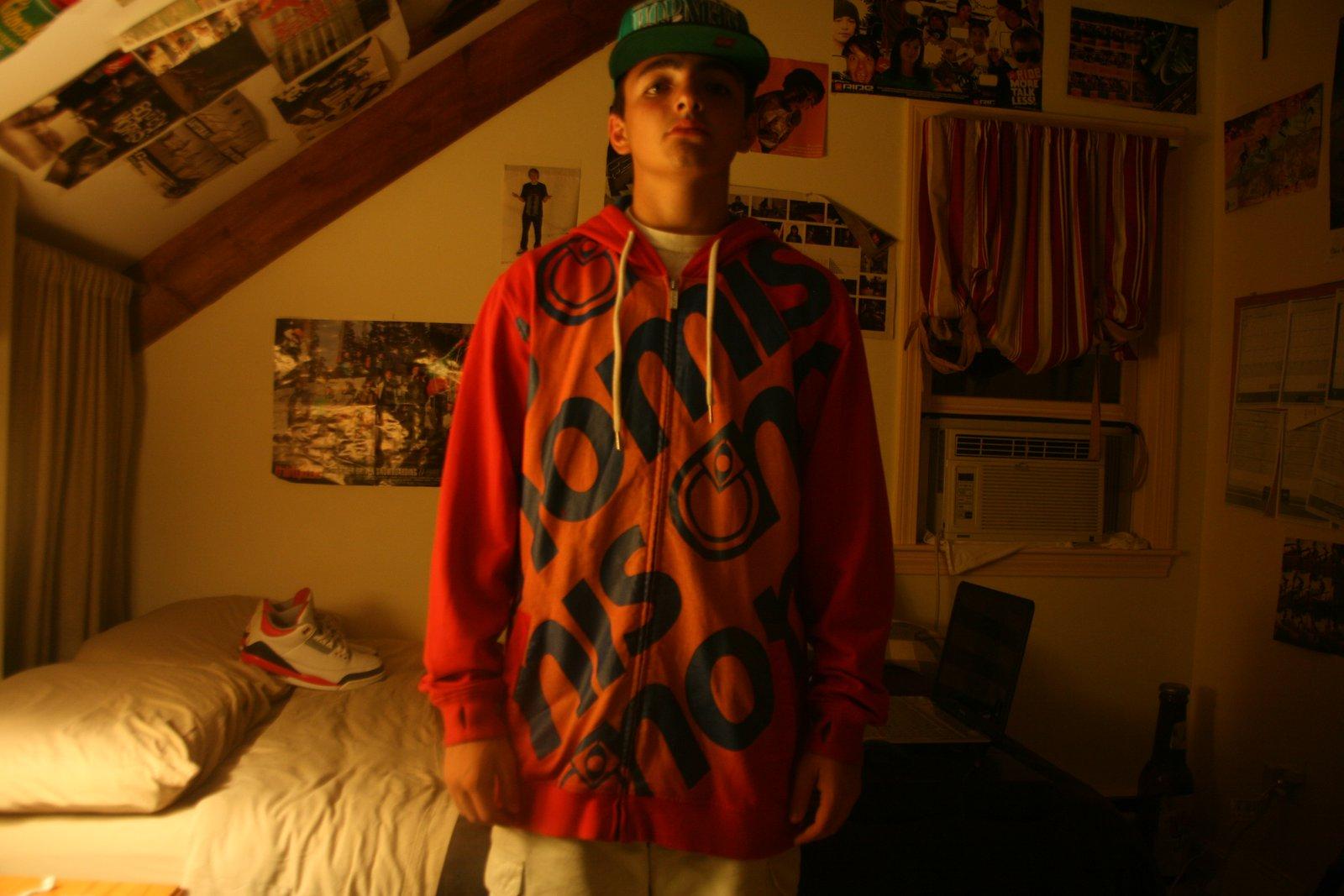 Wearing L Nomis Hoodie