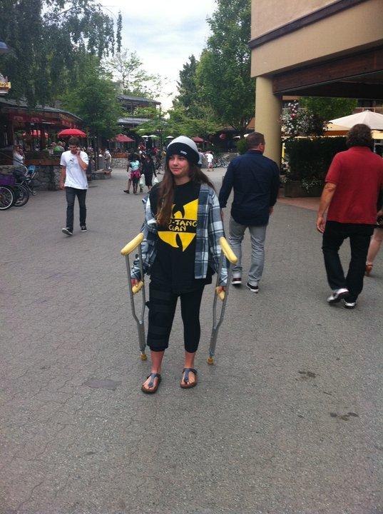 Dragging the crutches, classic haha