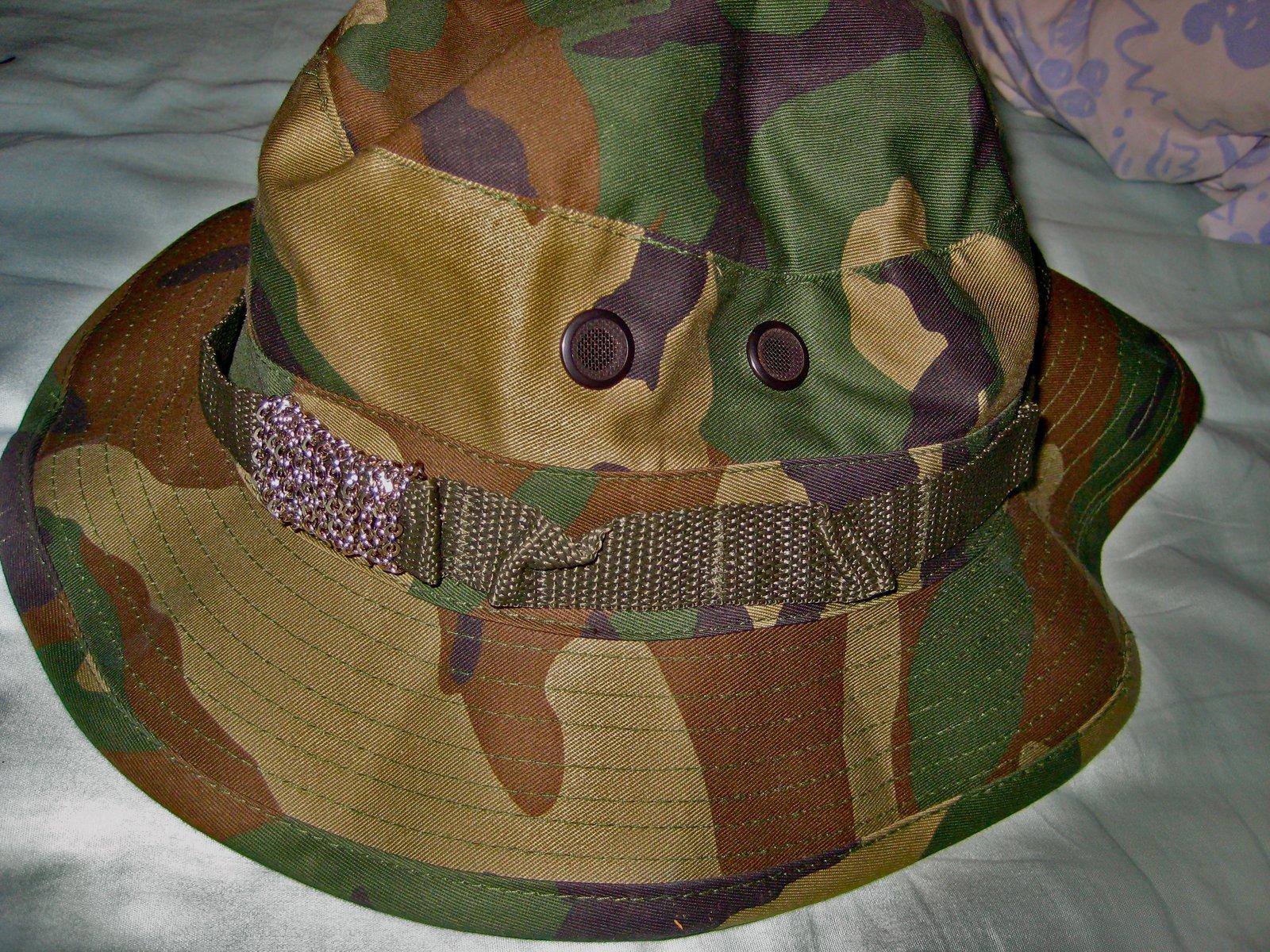 Icy bucket hat.