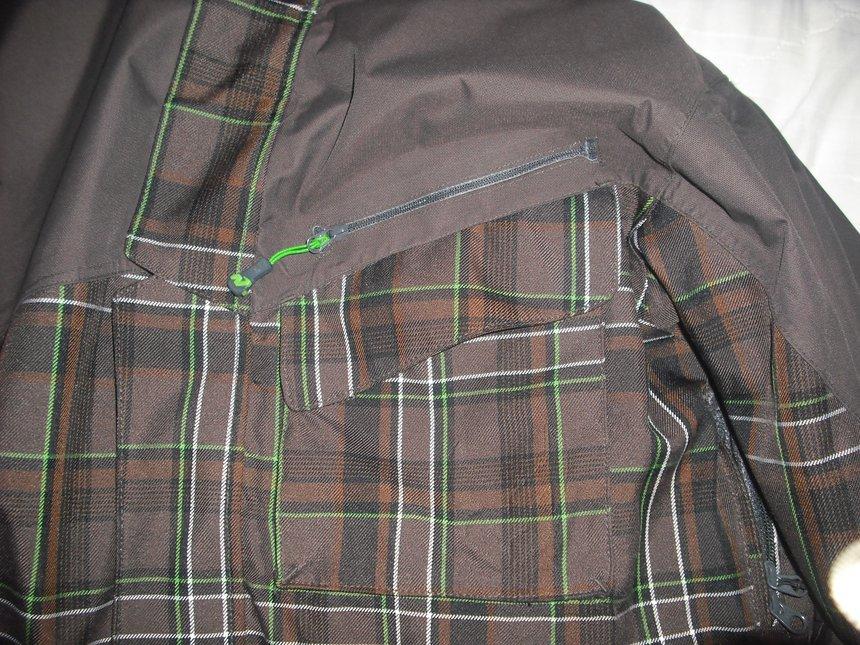 Left breast pockets