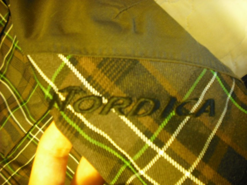 Nordica logo on arm