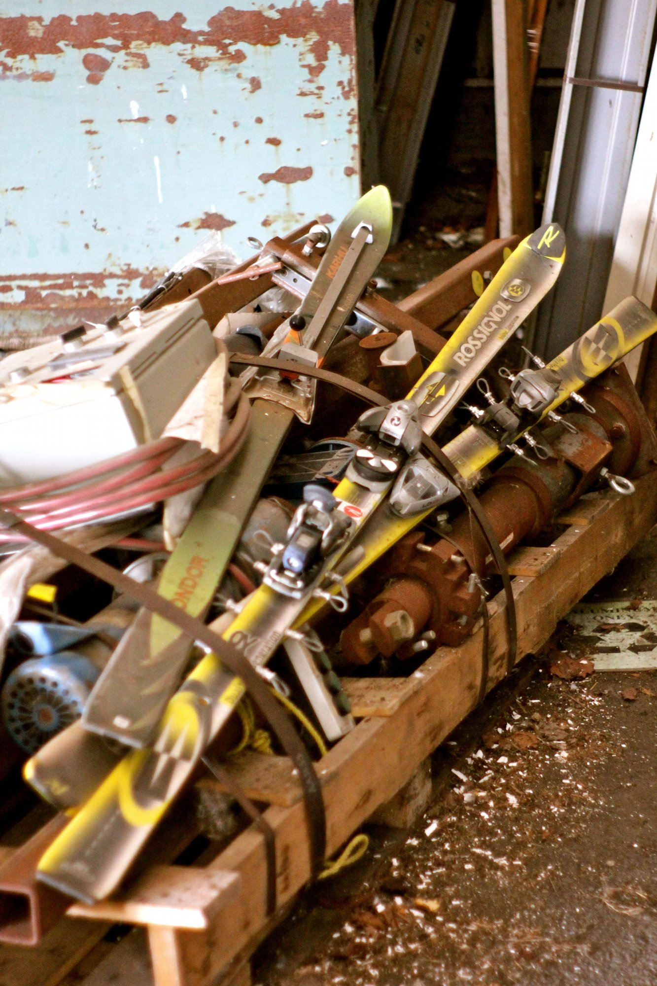 Old Rossi Skis at Old K2 Factory
