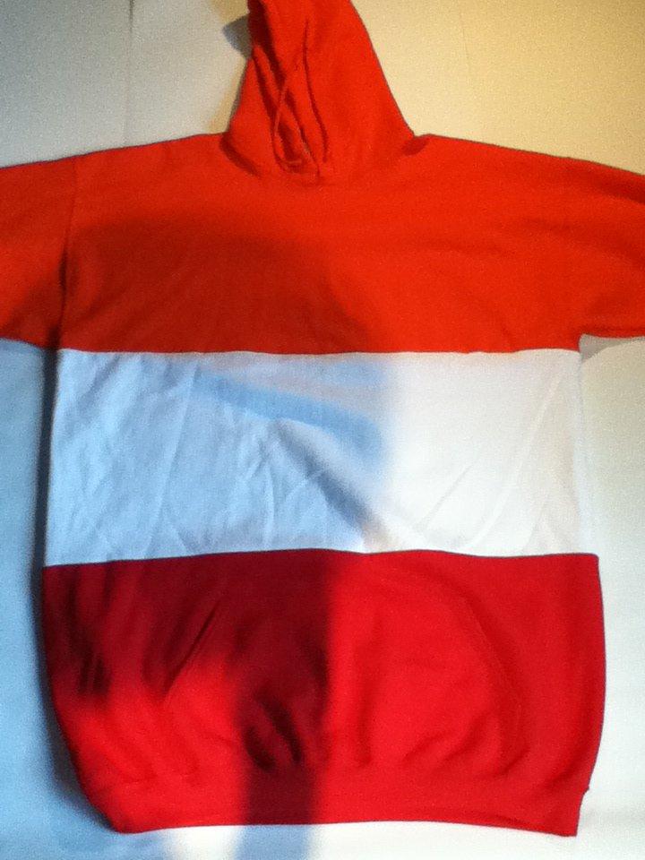 Orange White Red