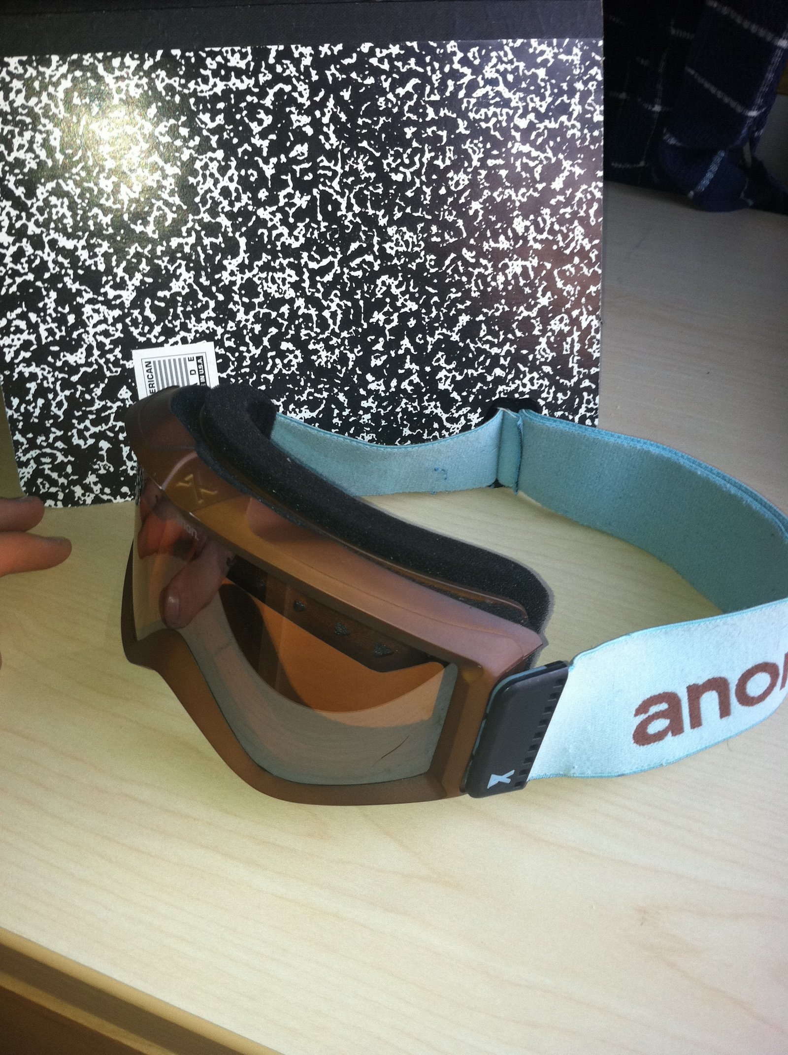 Anon Figment Goggles Baby Blue and Chocolate Brown