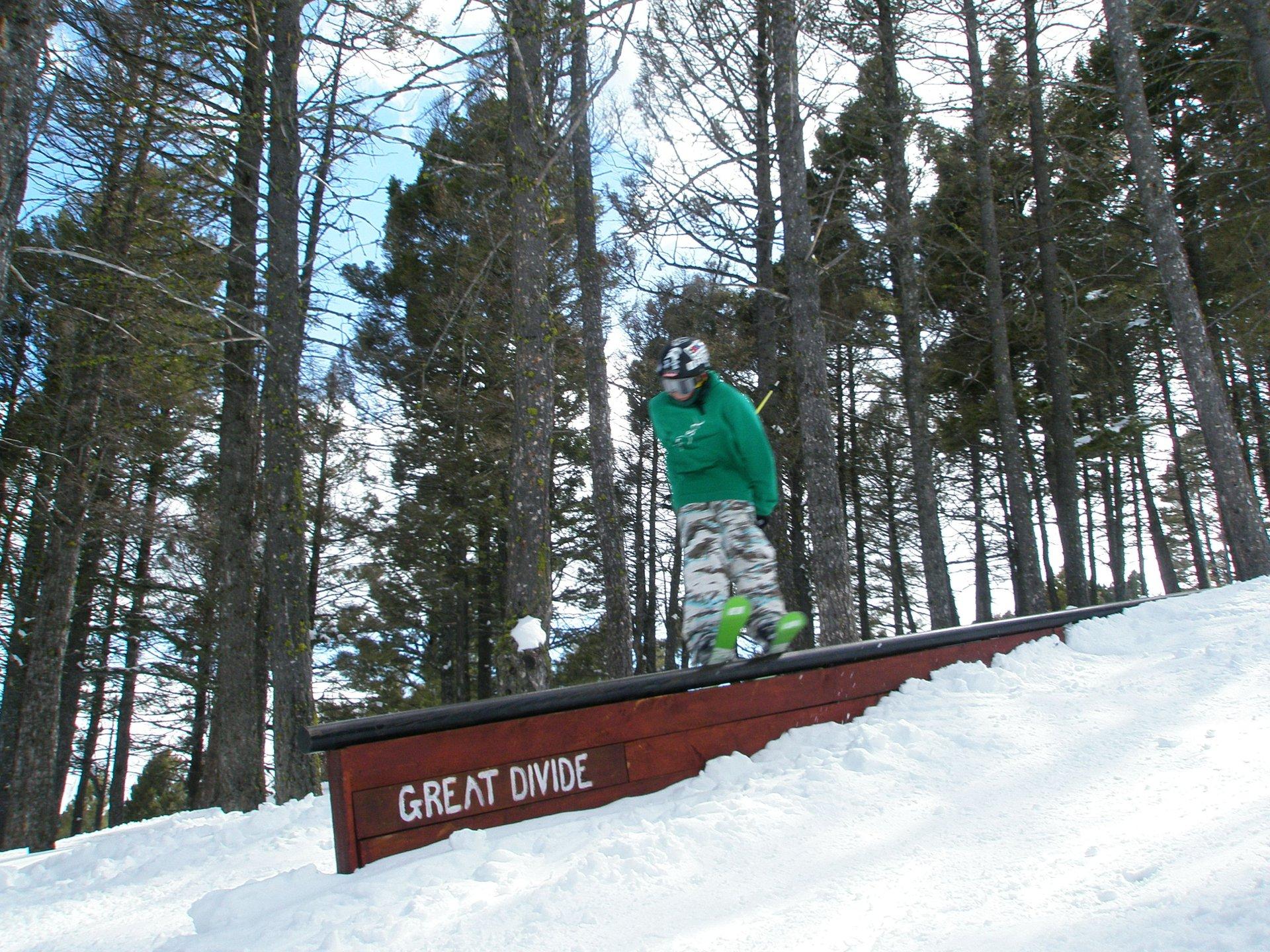 Skiing at great divide