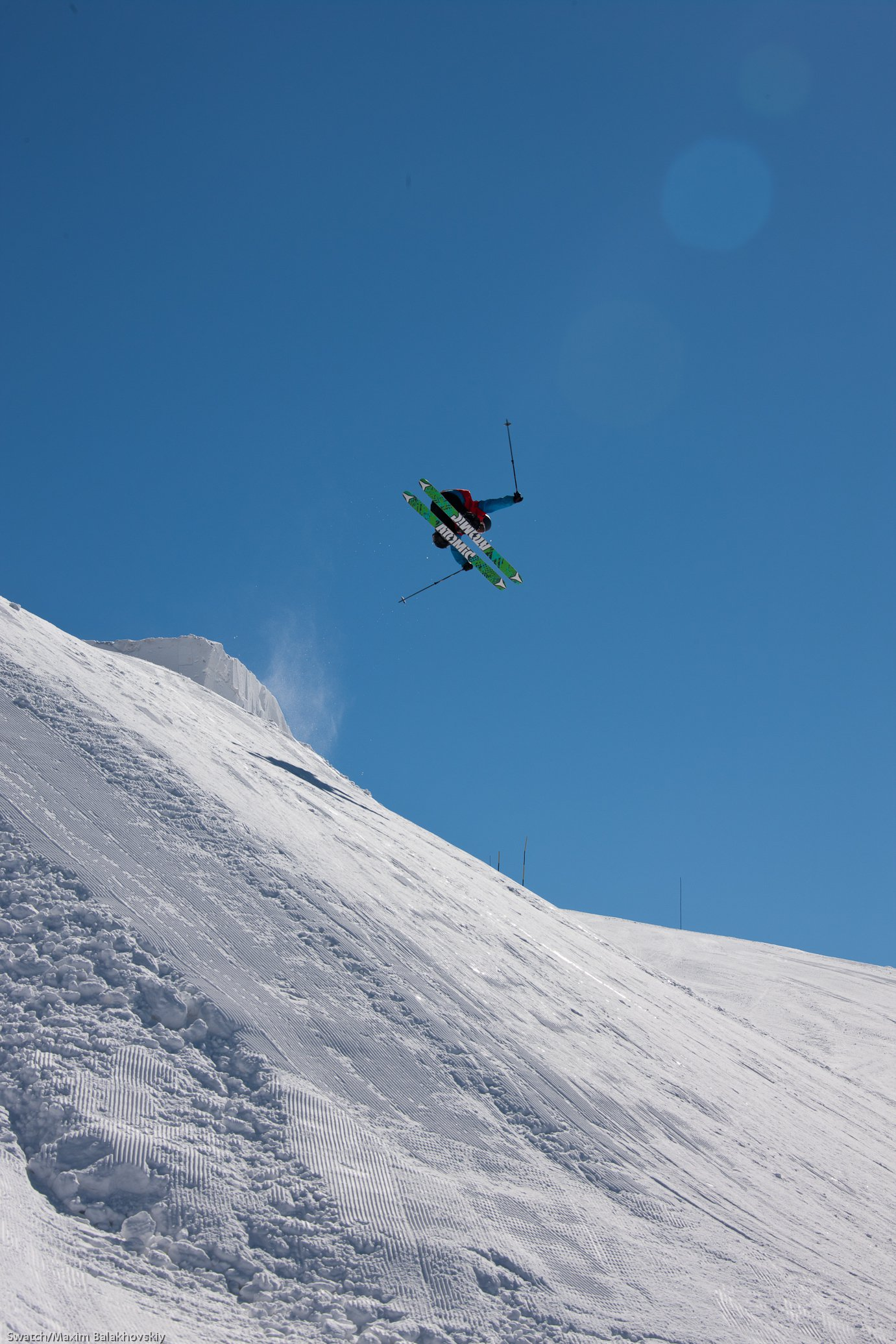 Dana Flahr at the Swatch Skiers Cup