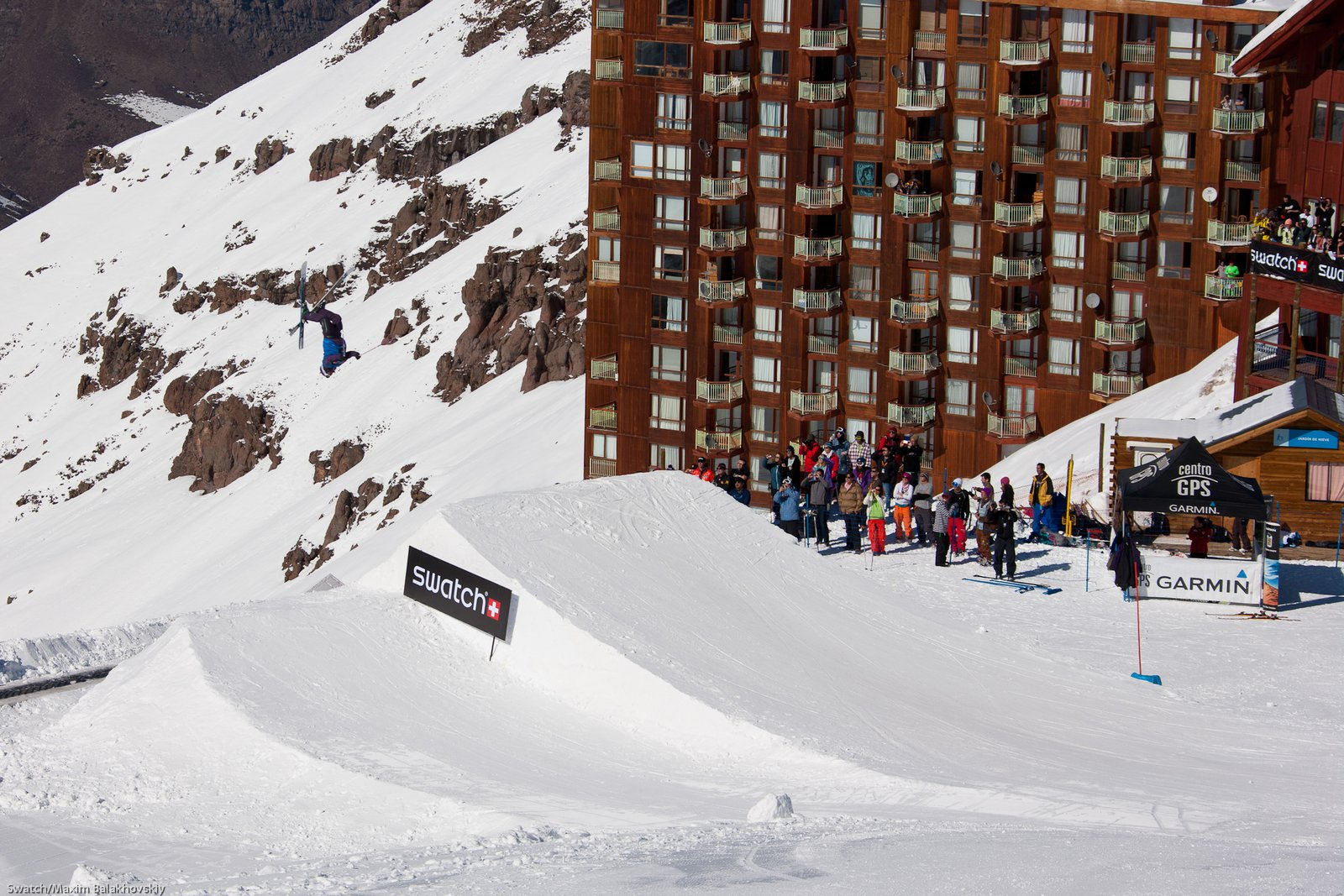 Seb Michaud at the Swatch Skiers Cup