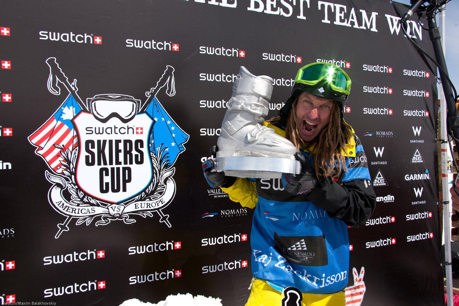 Kaj Zackrisson with the Swatch Skiers Cup