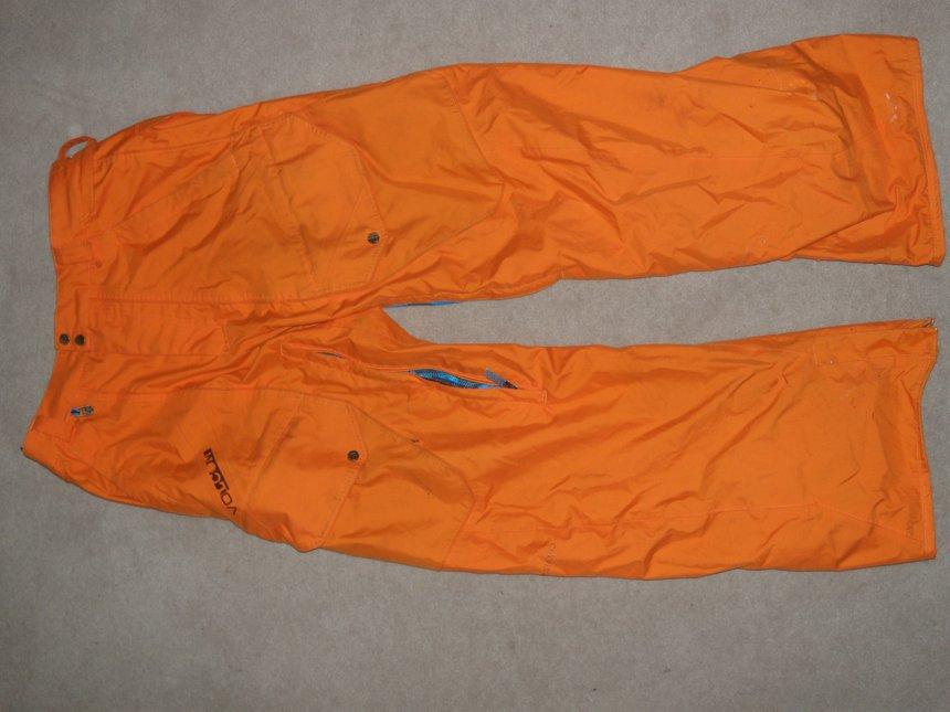 orange volcom pants