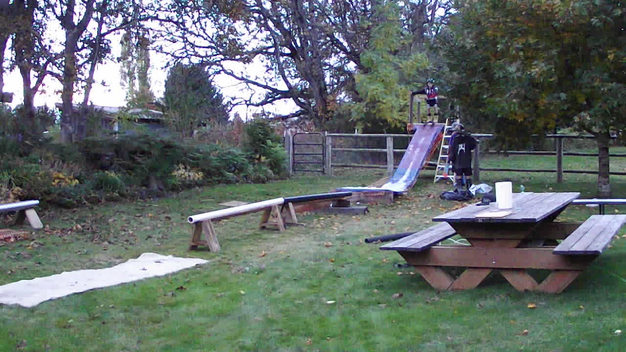 post your or someone else u0027s sketchiest backyard setup ski