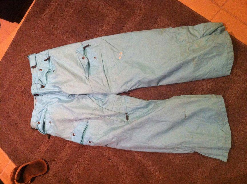 blue oakley pants