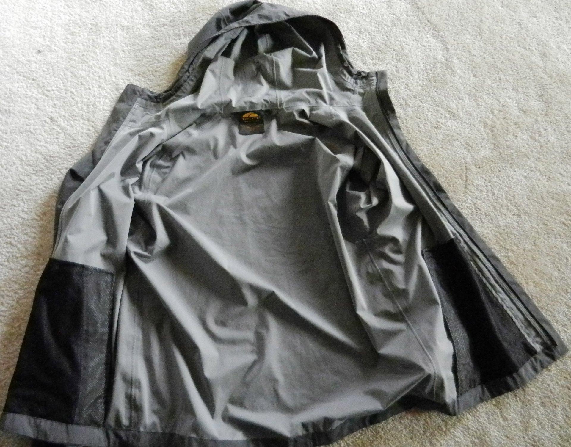golite jacket inside