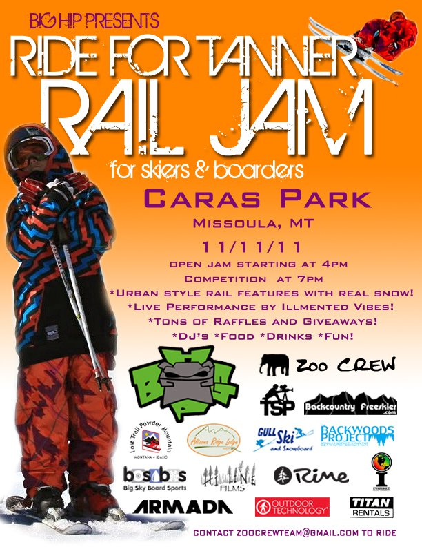 Ride For Tanner Rail Jam!