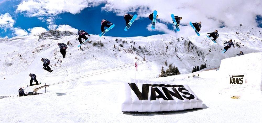 Snowboard Jump Stitch