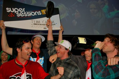 Team Canada Wins Jon Olsson Super Sessions