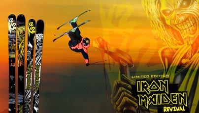 K2 Unleashes Iron Maiden Collab Ski