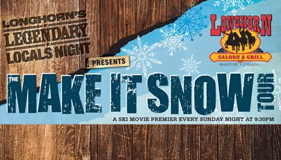 Longhorn Saloon's Make It Snow Tour