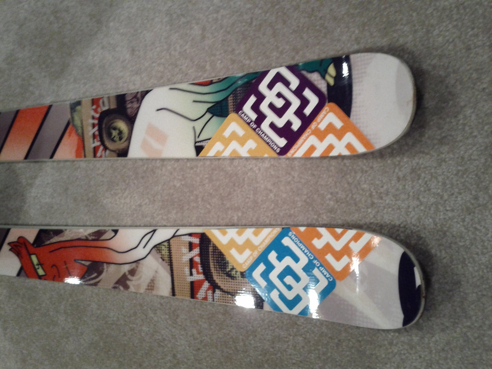 stickers on my skis