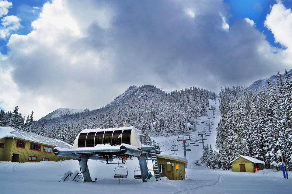 Fresh snow at Taos!