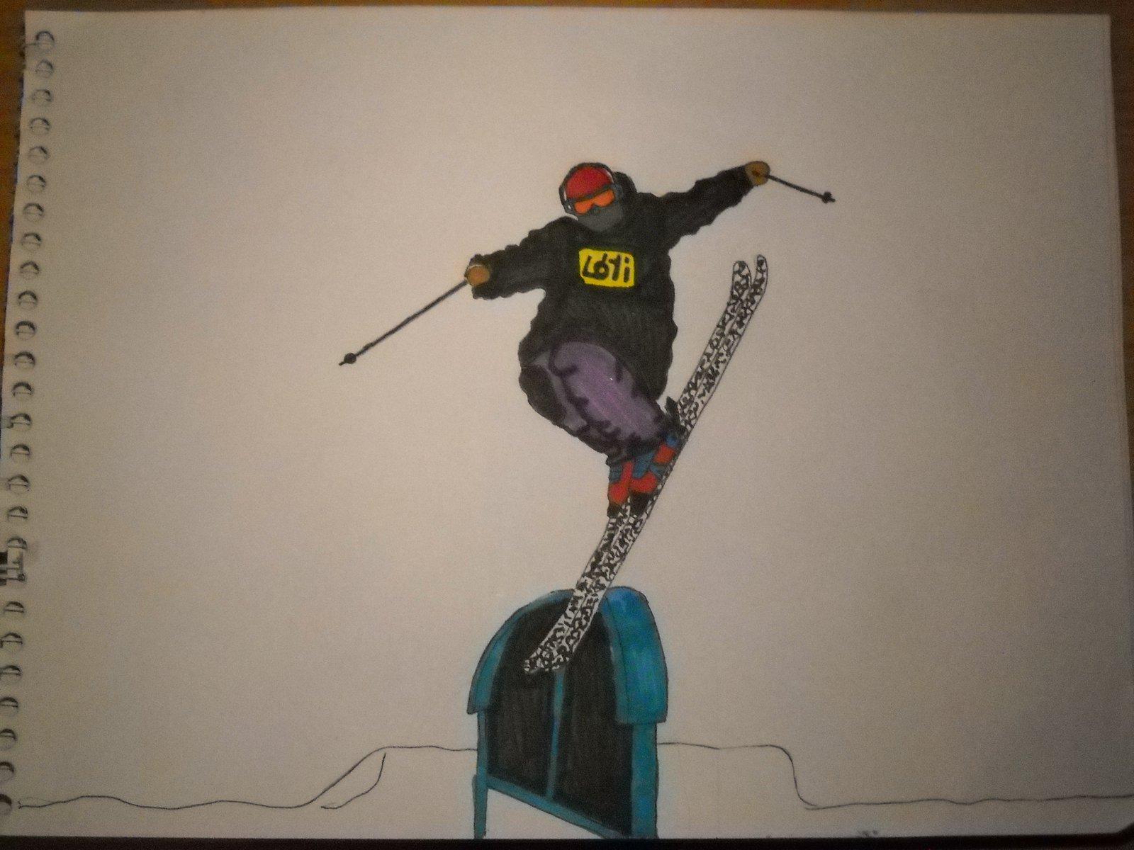 Ski drawing nose tap