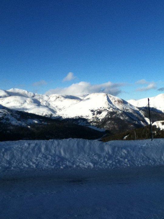snowy mountains!