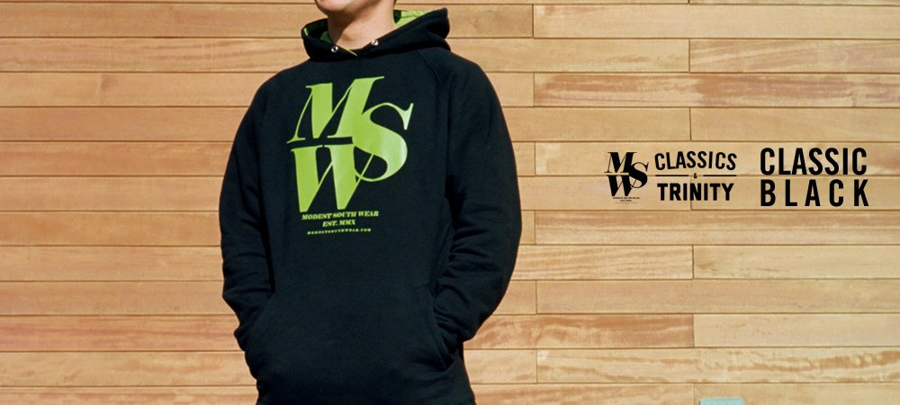 MSW Classic Black Hoodie