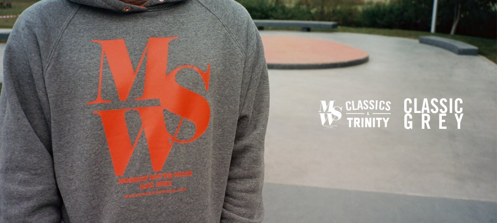 MSW Classic Grey Hoodie
