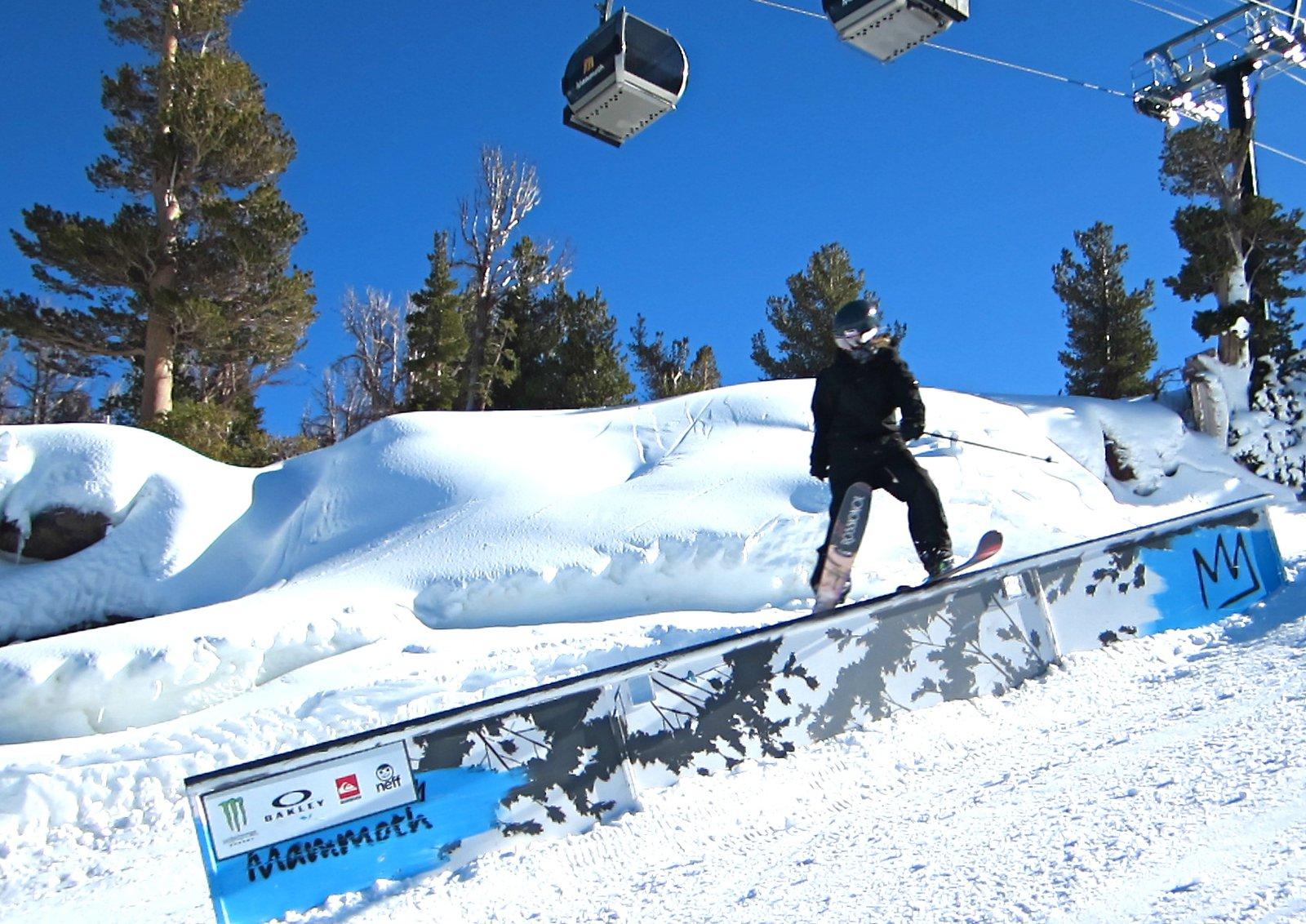 New skis, new rails