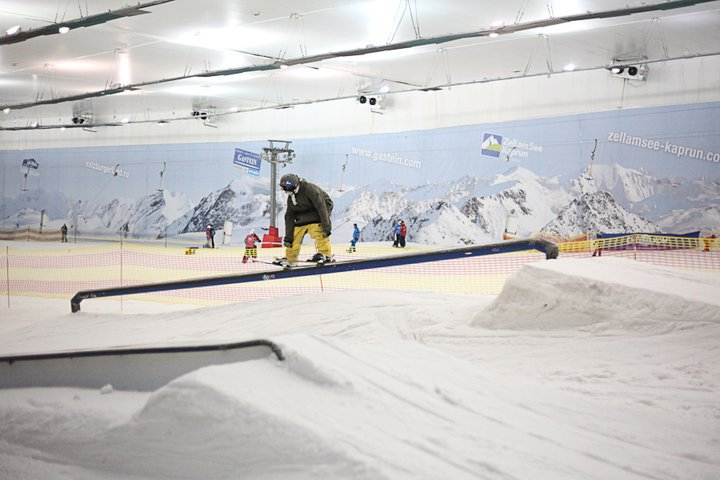 from indoor ski resort