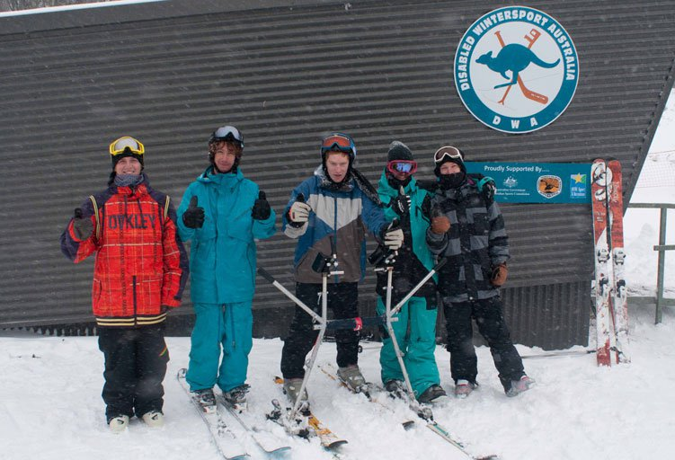 Liberty Australia Crew with Disabled Wintersport Australia