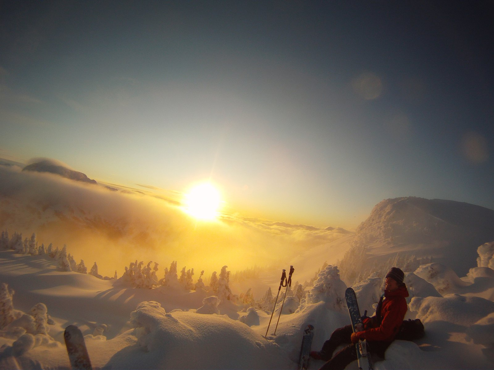 Sunrise on top of the mountain