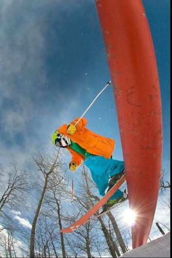 Rail sessions at Sunday River