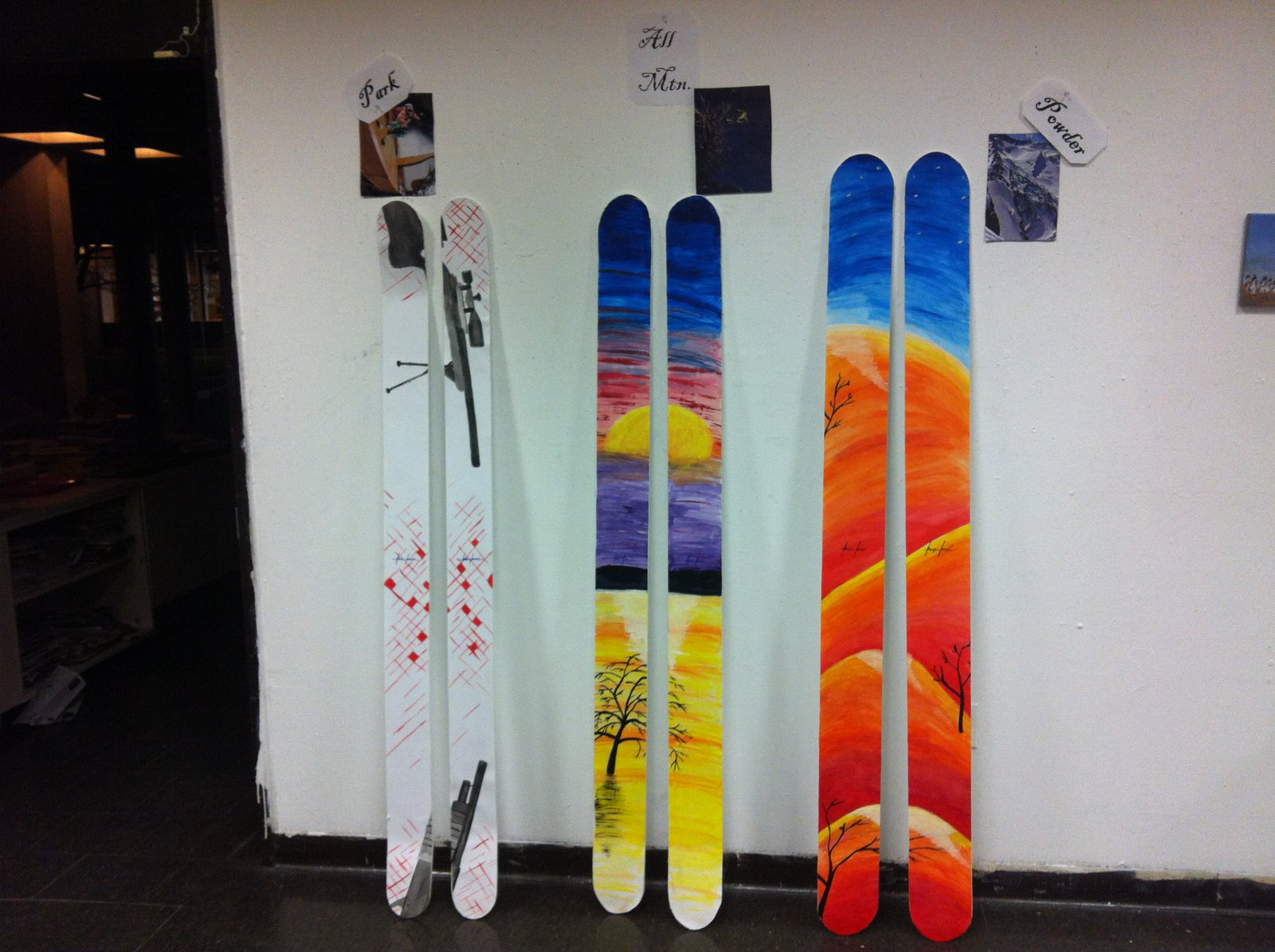 My Painted Ski Collection