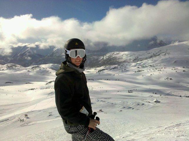 skiing @sunshine in Banff Canada