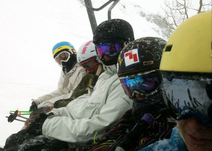 sitting on the lift at PC!